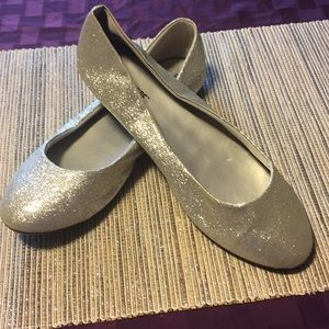 Shoes - Silver glitter 12 (US) ballet flats